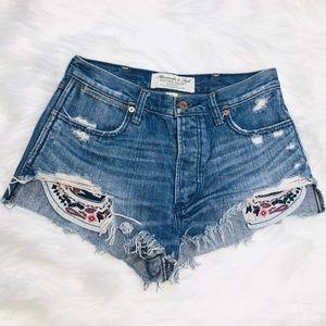 Abercrombie & Fitch Festival High Rise Shorts